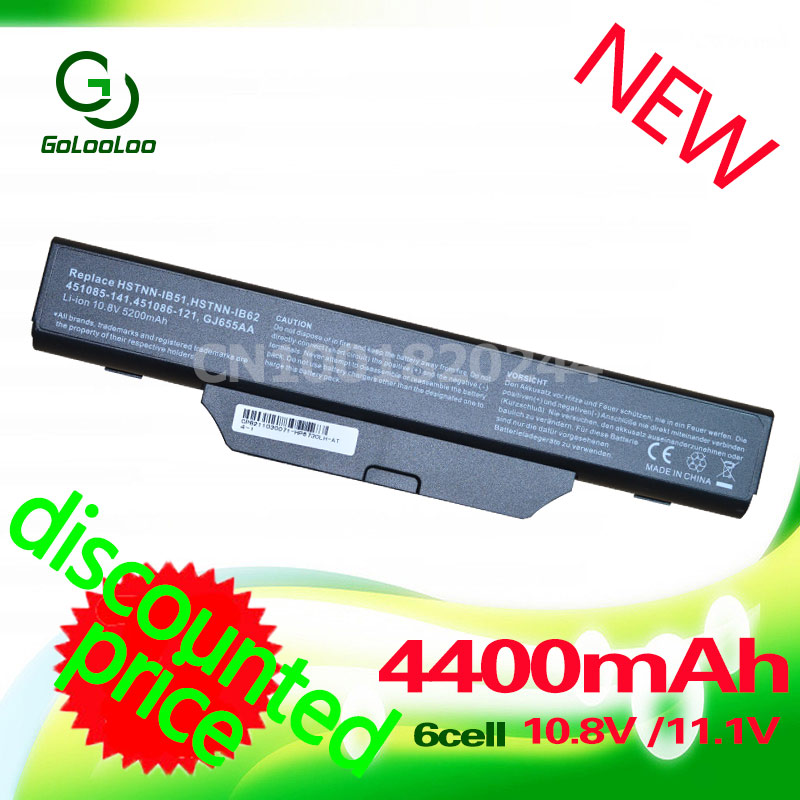 Golooloo battery for COMPAQ 610 510 511 615 for Hp 550 Business Notebook HSTNN-IB51 6720s 6730s 6735s 6830s 6820s HSTNN-IB62