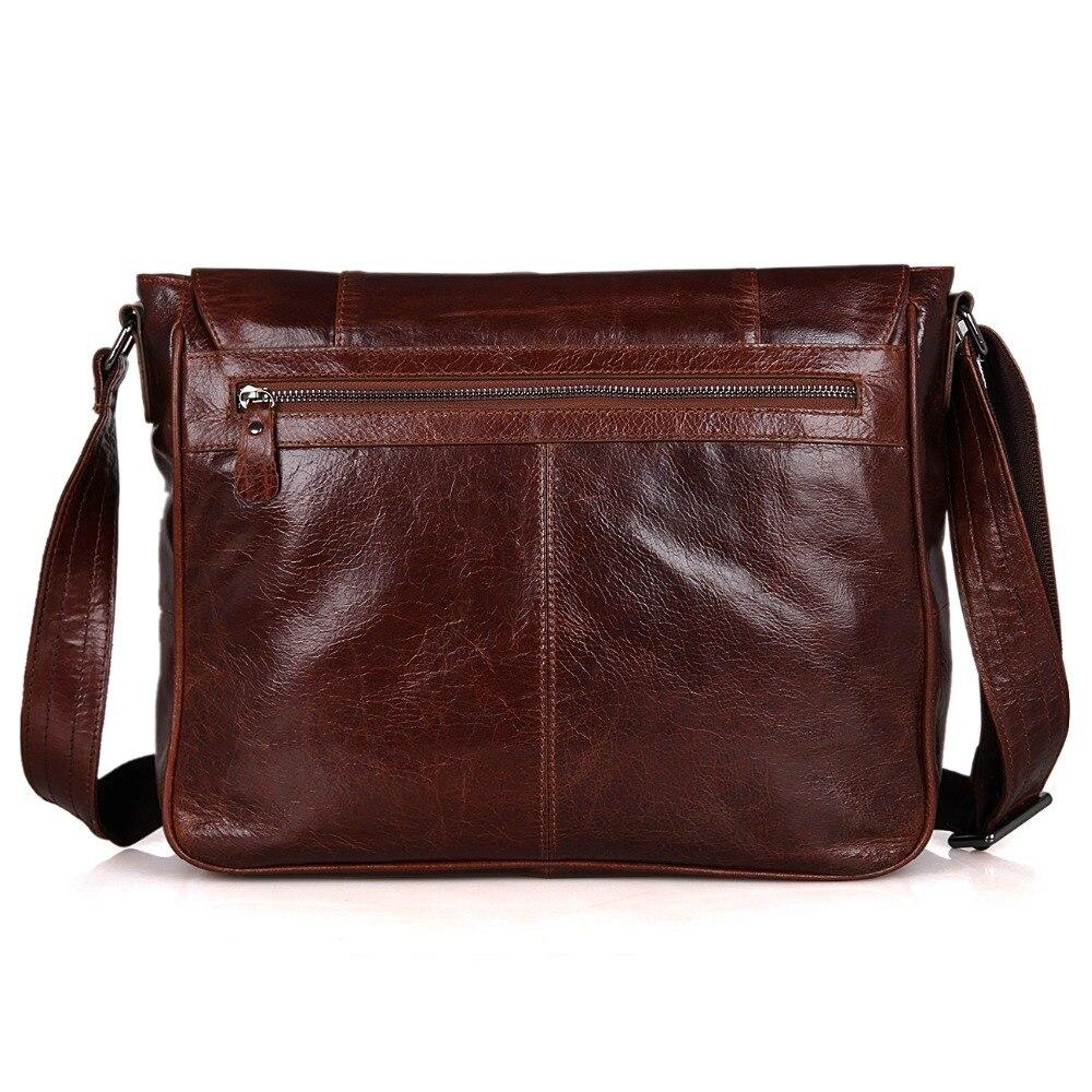 J M DFashion Genuine Leather Men 39 s Messenger Bag Cheap Vintage Shoulder Sling Bag 7338B C in Top Handle Bags from Luggage amp Bags