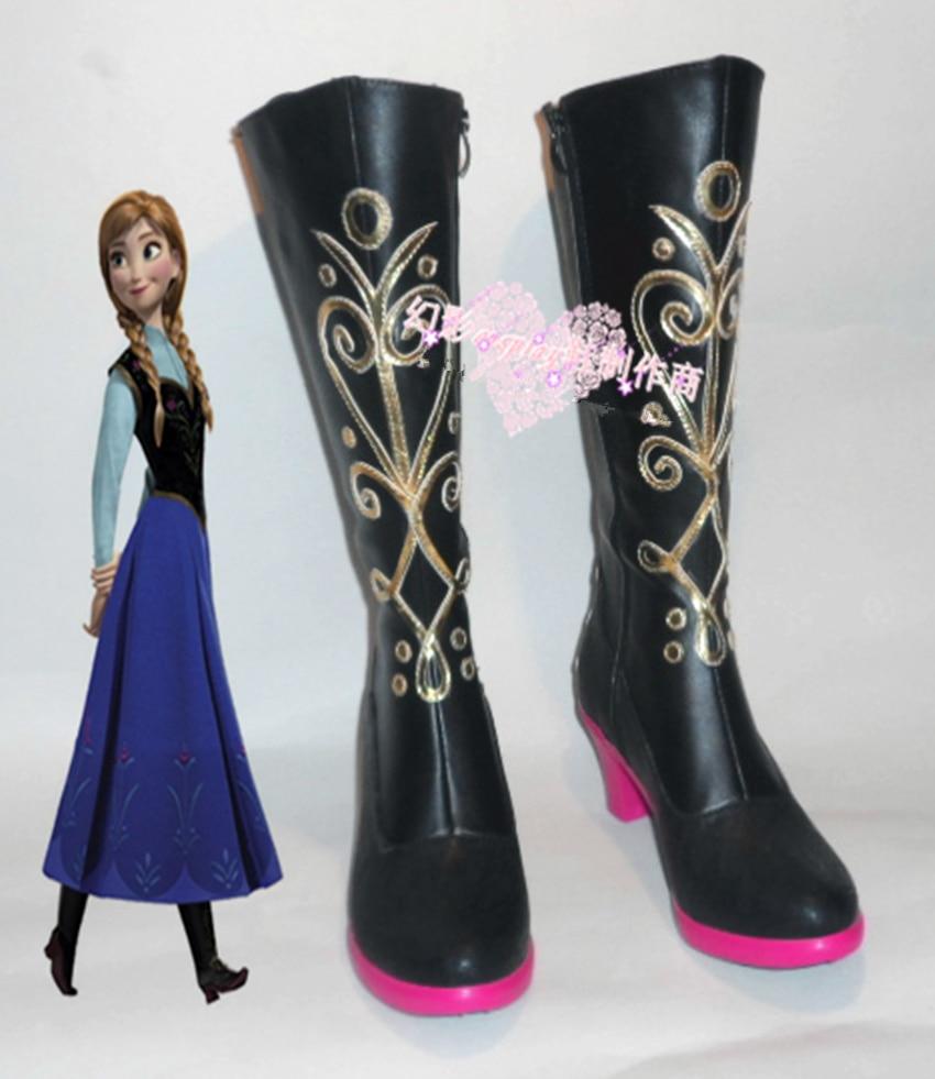 Princess Anna Boots Cosplay Anna Shoes Womens Boots Custum Made