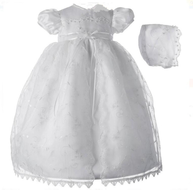 Lolita Newborn Baby Girl Christening Dress Baptism Gown White/Ivory ...