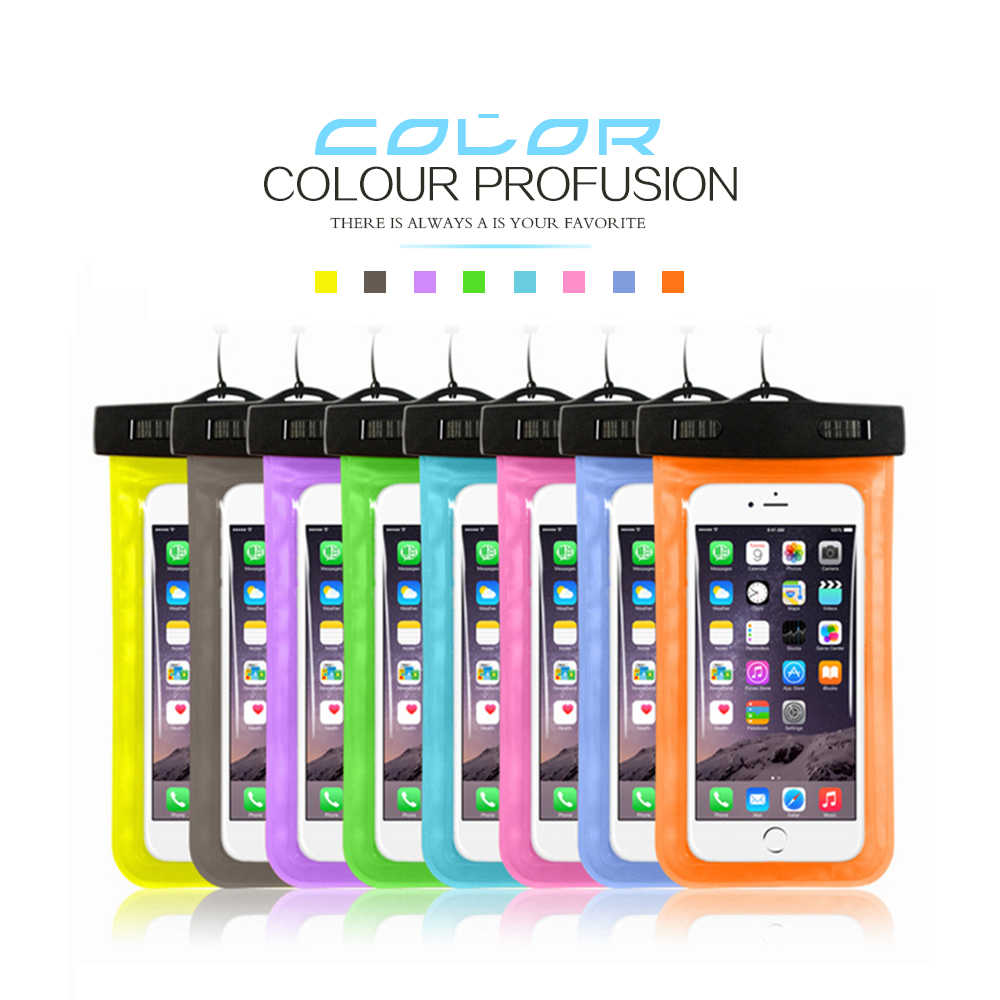 Смартфон Водонепроницаемый сумка чехол для iPhone 8 7 6 6s плюс 5S SE водонепроницаемый чехол для samsung S8 плюс S6 S7 края Примечание