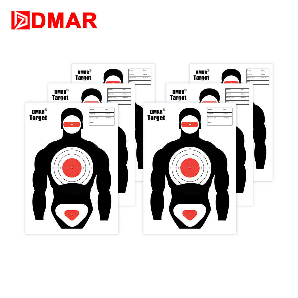 DMAR 42x30cm Shooting Target Paper Silhouette Tactical Training Target Range Shooting Airsoft Outdoor Indoor Range Archery