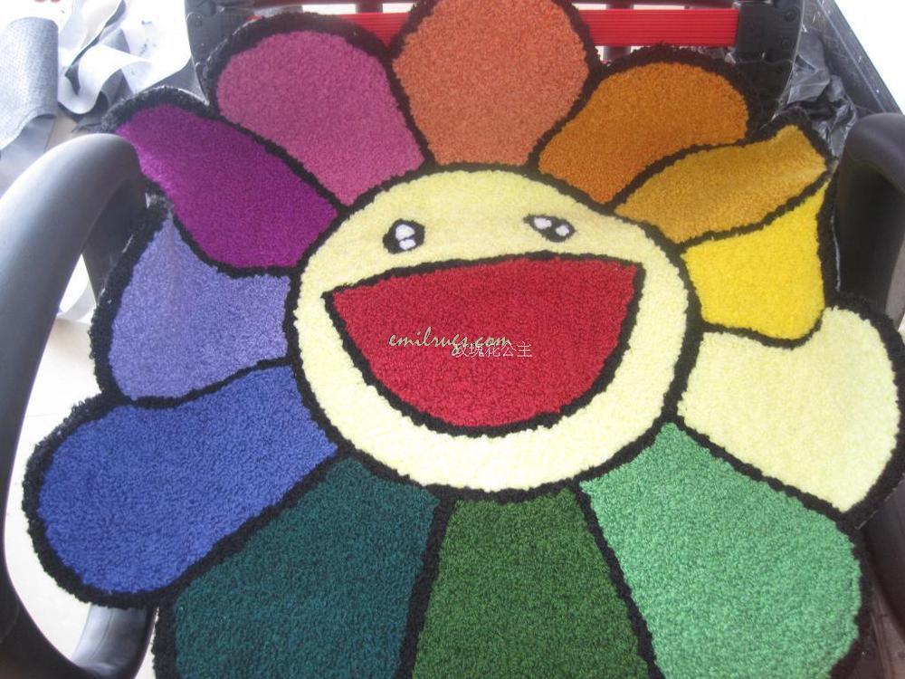 2014 Продажа ковры Цветной подсолнухи-slip коврики, ковры Малый Кофе стол компьютерный стул Подушки Pad детская Спальня