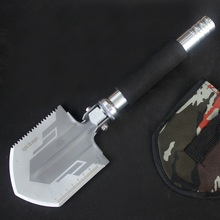 Mini Garden Camping Shovels Multifunctional Chinese Military Folding Shovel Outdoor Survival Compass EDC Pocket Tools Knife Saw