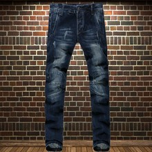 British style male applique straight men s jeans slim whisker cotton denim trousers brand jeans for