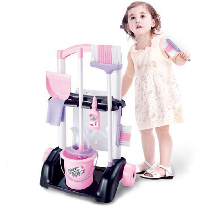 Delicate Doll House Cleaning Mop Broom Tools Pretend Play Furniture Toys Kit For Kids Dolls Accessories Play House Toys