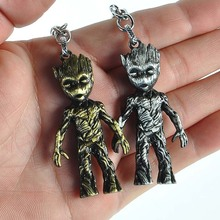 Tree Man Groots Figure Toys Keychain Action Figure Hero Model Guardians of The Galaxy Groot Thanos Figure Toy for Kid rmdmyc toy guardians of the galaxy rocket racoon groot action figure 16cm groot 1 10 scale painted anime figure pvc model gifts