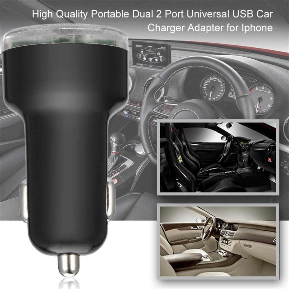 جديد مايكرو العالمي المزدوج 2 ميناء USB سيارة شاحن آيفون لباد شاحن سيارة صغيرة محول سيارة أخف سيارة التصميم الساخن