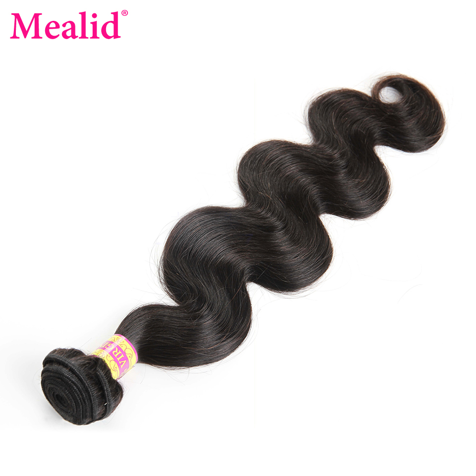 ФОТО [Mealid] Peruvian Virgin Hair Body Wave Natural Color 14
