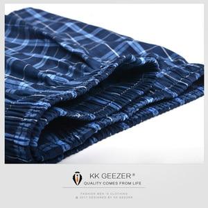 Image 2 - 3Pcs/Packag Men Boxer Plaid Underpants 100% Cotton Underwear Male Sleep Bottoms Shorts Brand Top Quality Loose Homewear Oversize