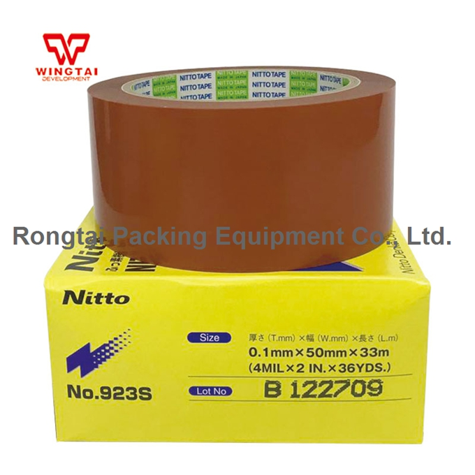Japan NITTO DENKO High Temperature Resistant Nitoflon Tape 923S T0.10mm*W50mm*L10m t0 10mm w38mm l33m nitto denko heat sealing machine use heat resistant tape 923s