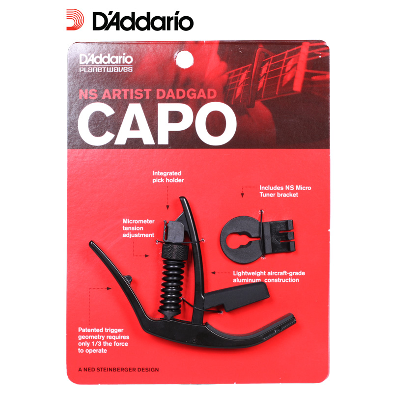D'Addario Planet Waves PW-CP-14 NS Artist DADGAD Capo Capotraste planet waves pw ct 17gn