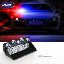 Super Bright 16LED Car Windshield Strobe Light Viper Flash Signal Emergency Fireman Police Beacon Warning Light