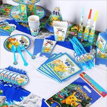 84pcs\lot Cartoon Anime pokemon Pikachu Kids Birthday Decoration Set Theme Party Supplies Baby Pack