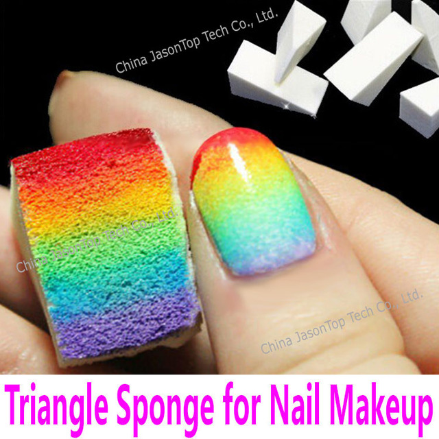 4pcs Gradient Color Ramp Sponge Nail Art Sponge Nail Makeup Sponge ...