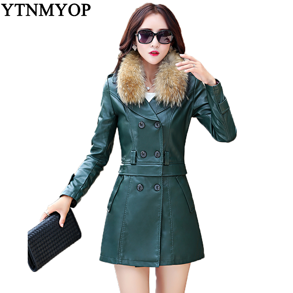 Popular Long Leather Coat Women Trench-Buy Cheap Long Leather Coat ...