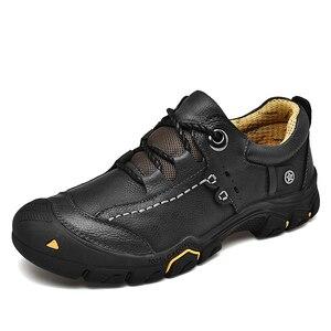 Image 2 - CLAX Mens Scarpe Da Lavoro Genuino maschile In Pelle Alla Caviglia Stivali uomo Casual Calzature Scarpe di Cuoio chaussure homme Plus Size