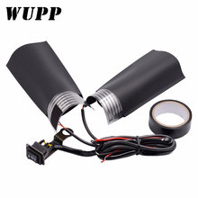 WUPP 1 Pair Motorcycle Handlebar Electric Hot Motorbike Heating Handle Heated Grips Handle with Adjustable Switch Temperature