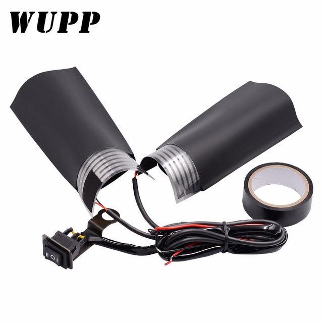 WUPP 1 çift motosiklet gidonu elektrikli sıcak motosiklet ısıtma kolu ısıtmalı sapları kolu ayarlanabilir anahtarı sıcaklık