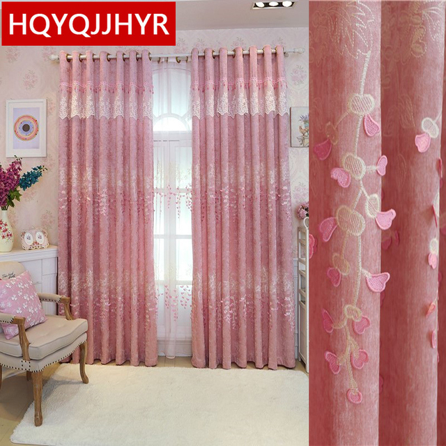 European Pastoral luxury embroidery Blackout curtains for Living ...