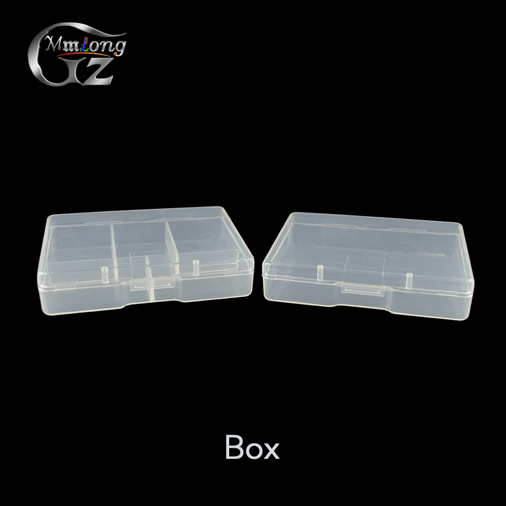 2pcs 72*52*17mm Clear Fishing Tackle Box for Fish Lures Storage Case Portable Plastic Fishing Boxes Accessaries Pesca