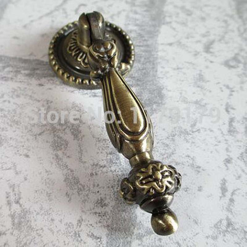86mm Bronze Movable Pendant Drawer Pull Antique Br Kitchen Cabinet S Handle Furniture Hardware Handles In Pulls From Home