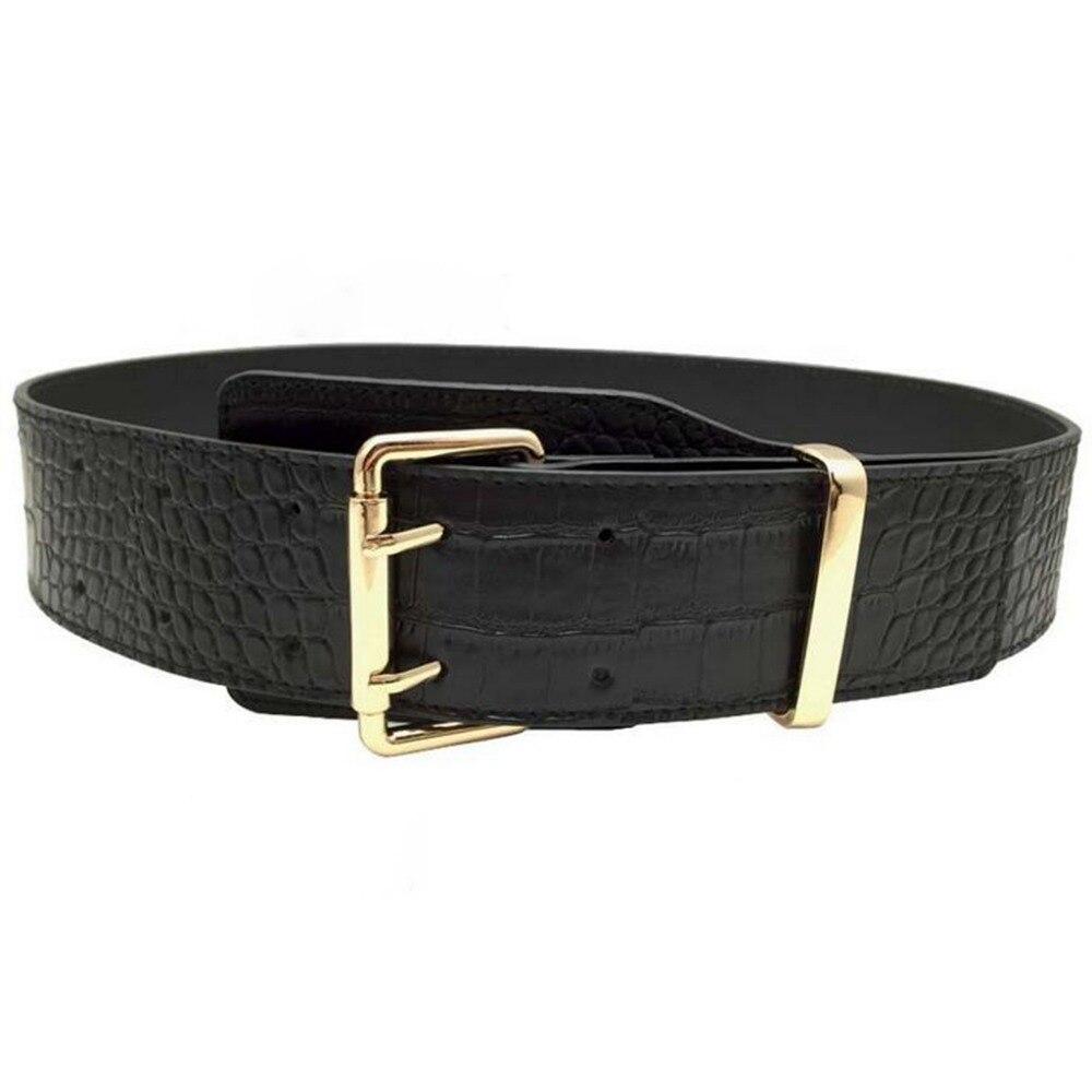 Fashion Women's Waist Belt Corset Vintage Double Needle Buckle Wide Belts Corset Cincher Ladies High Slim Cummerbunds