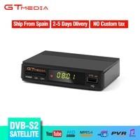GTMEDIA Hot sale DVB S2 Satellite Receiver Fully HD 1080p DVB S2 V7S Support CCCAM Newcam AVC/H.264 MPEG 2/4 DVB S2 TV Receiver