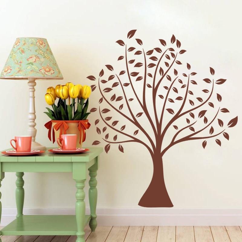 70 * 80cm jednoduchý klasický hnědý strom domácí dekorace na zeď dekorace nálepka, aby vaše rodina pestřejší nástěnné malby umění