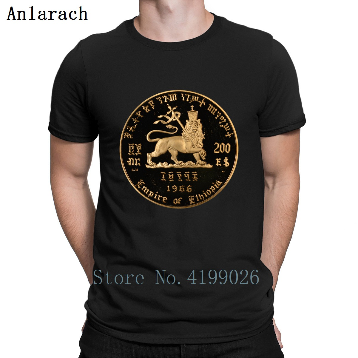Lion Of Judah Empire Of Ethiopia Haile Selassie   T     Shirt   Homme Spring 2019 Print Classical Mens Streetwear   Shirt   Plus Size Great