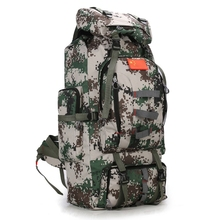 80L Men Tactical Backpack trekking waterproof bag traveling army bags mochila Camping Hiking backpack for bicycle sport bags