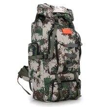 80L trekking Tactical Plecak wodoodporny worek Mężczyźni armia sport torby plecak mochila podróży Camping Piesze Wycieczki plecak dla rowerów