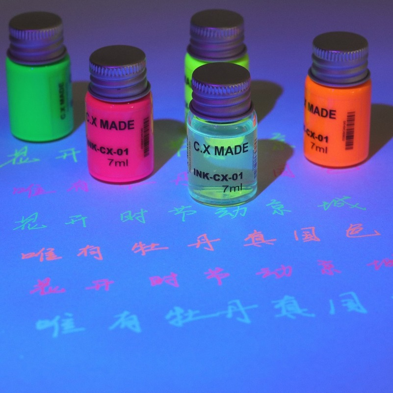 Invisible Fluorescent Ink Students Use Calligraphy Painting Color Inks 7ML Fountain Pens Ink