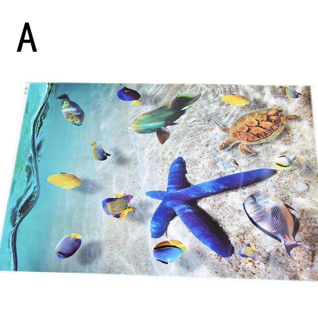 waterproof 3d dolphin floor stickers bathroom starfish wall stickers