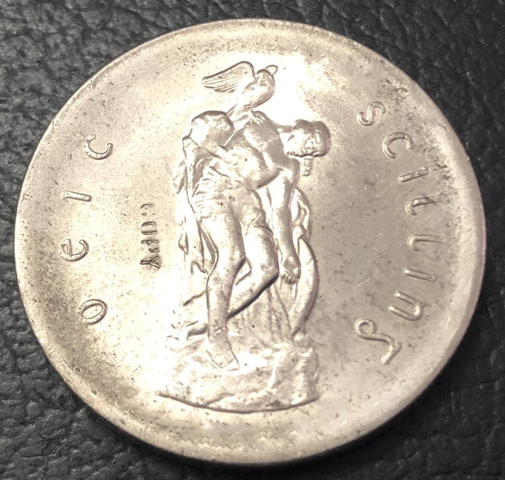 1966 ирландские серебряные перламутровые шиллинги высокого класса копия Посеребренная монета