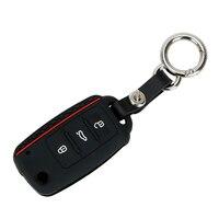 Leepee acessórios do carro 3 botões chave do carro protetor substituição chave capa para volkswagen vw polo bora tiguan caso chave do carro escudo
