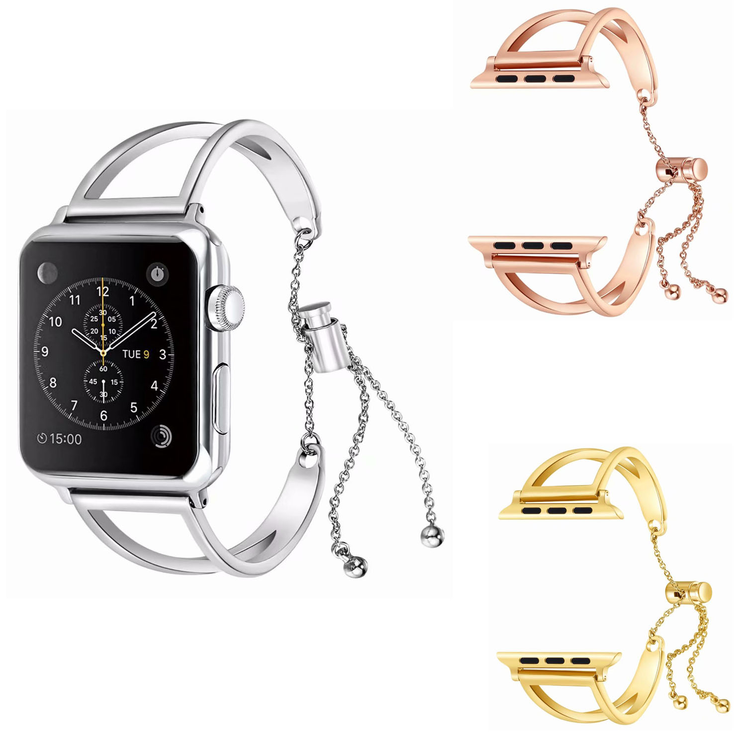 Fashion Stainless Steel Bracelet for Apple Watch Band Hollow Metal Watch Strap for Apple iWatch Series 1/2/3 38mm 42mm 42mm 38mm for apple watch s3 series 3