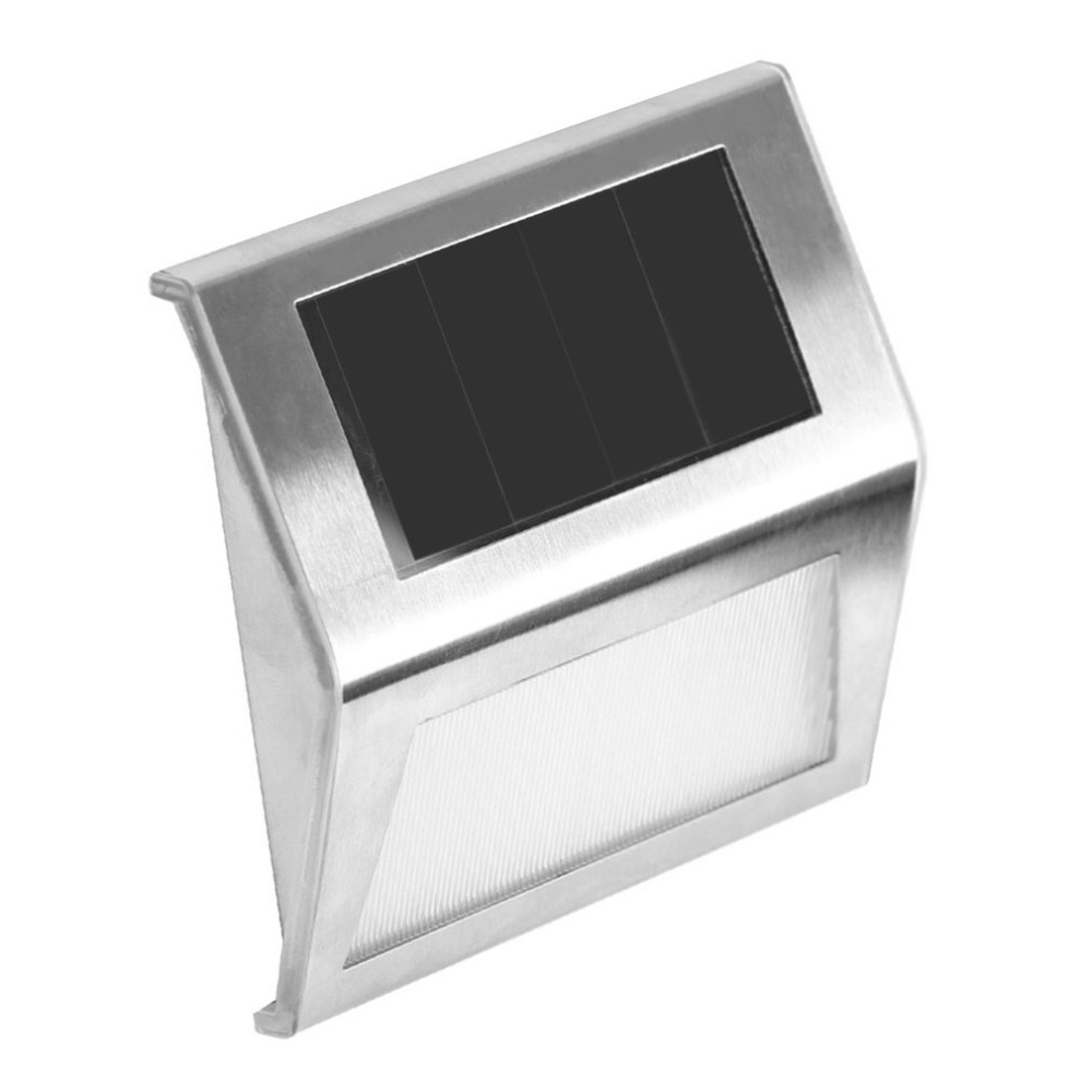 Solar Lamps Sunny 2 Leds Stainless Steel Solar Powered Wall Lamp Waterproof Sensor Light Garden Lamp Yard Lamp Sensation Lighting Quality Outdoor Lighting