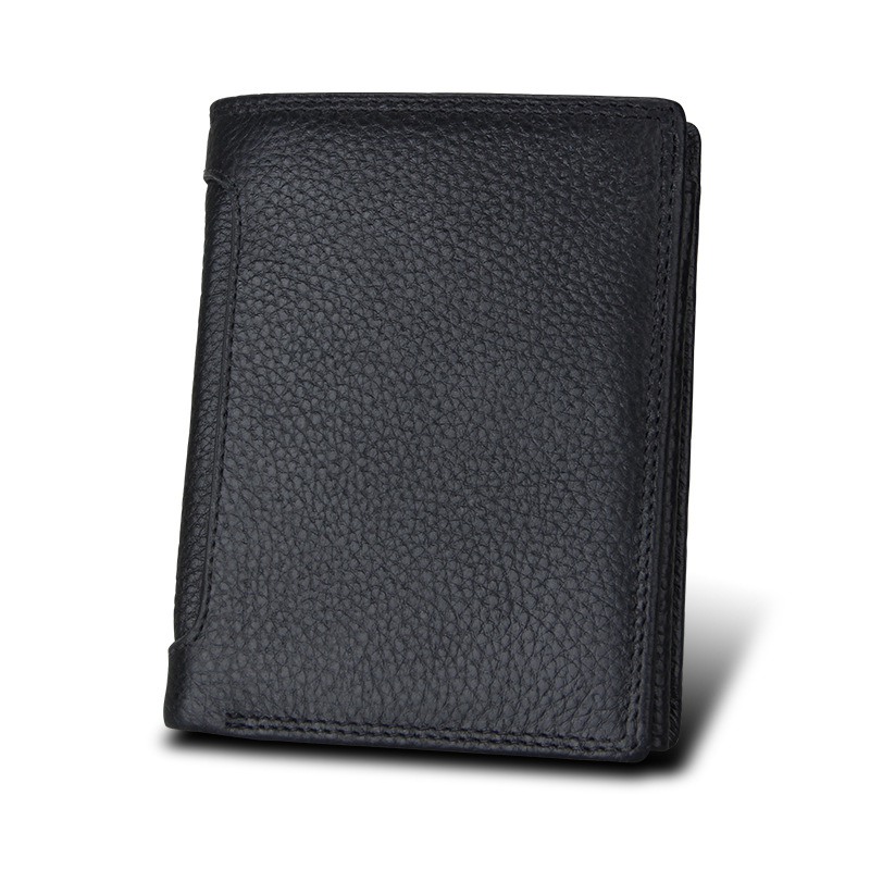 Men Genuine Leather Wallets Top Quality Short Casual Wallet Card Holder Mens Credit Cards Purse Multifunctional For Male Purse