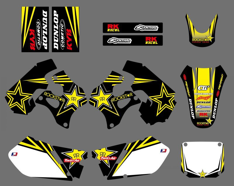 все цены на new style 0425 Star TEAM DECALS STICKERS GraphicS For Suzuki RM125 RM250 1996 1997 1998 RM 125 250