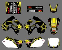 new style 0425 Star TEAM DECALS STICKERS GraphicS For Suzuki RM125 RM250 1996 1997 1998 RM 125 250