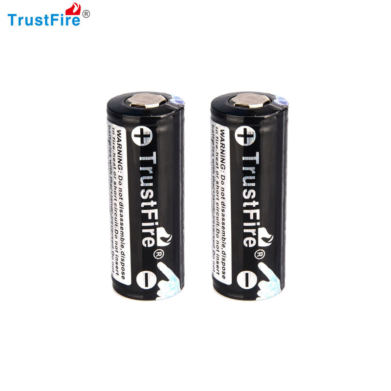 TrustFire 2PCS 26650 4000mAh 3.7V Rechargeable Lithium Battery with PCB Protected Board ...