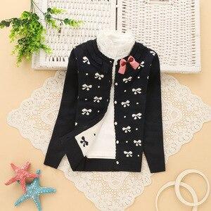 Image 3 - 6 14 anos meninas algodão cardigan para meninas camisolas 2016 primavera novo estilo crianças camisola k501
