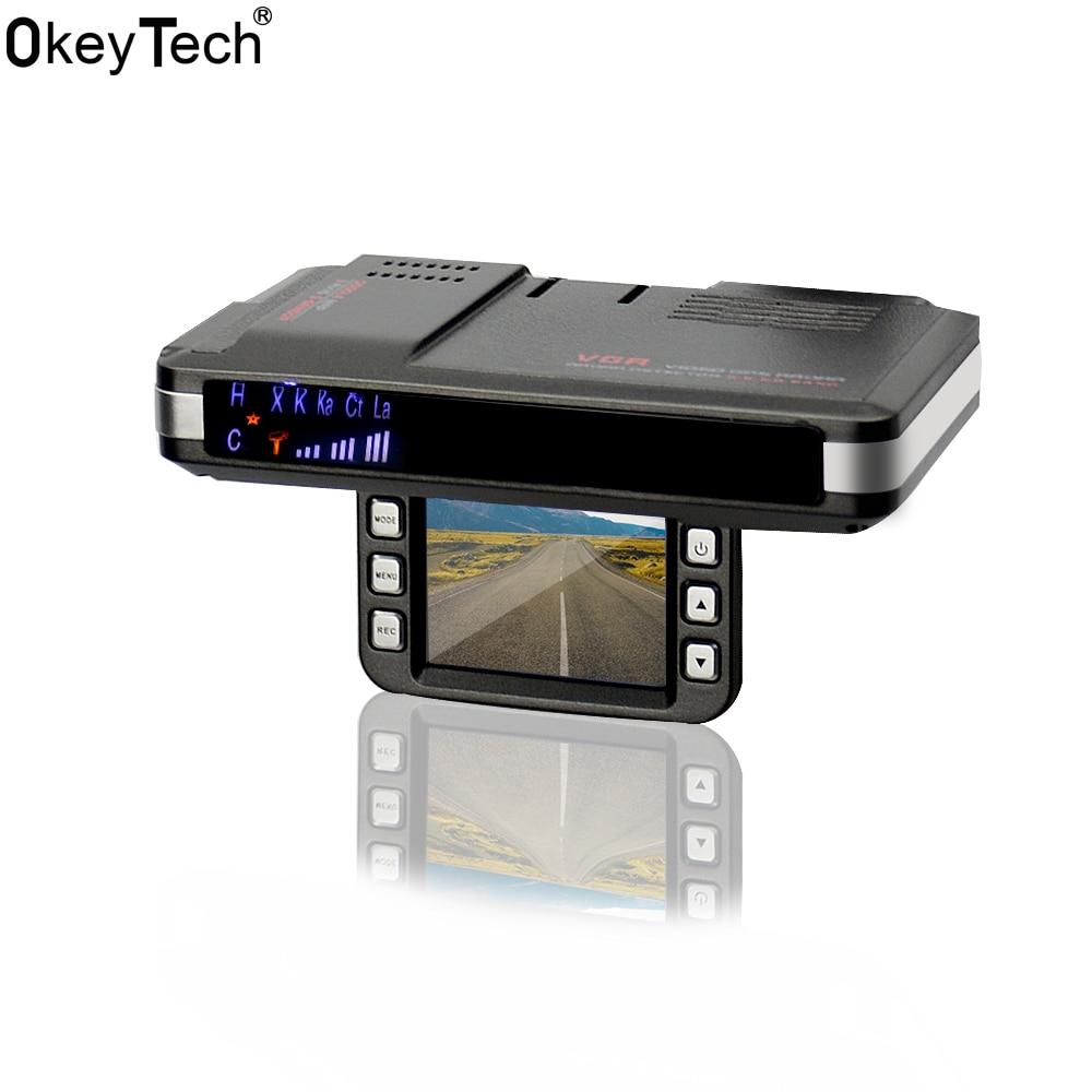 OkeyTech Car Accessories Best Car DVR Anti Radar Recorder Speed Detector High-definition 2 In 1 Alarm System Support G-sensor