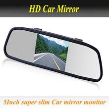 Автомобильное зеркало заднего вида, монитор 5 дюймов, 800*480, Автомобильный Hd дисплей, зеркало заднего вида, монитор, 2ch видео вход, помощь при парковке
