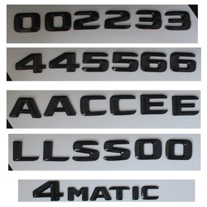 Image 4 - 3D Black W221 W222 Emblem S63 S350 S500 4MATIC Letter S CLA Auto Car Stickers Badge Logo Emblema For Mersedes Mercedes Benz AMG