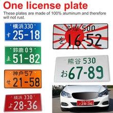 Tag de alumínio para placa de licença, etiqueta universal de alumínio para carro e motocicleta jdm kdm para vw/audi