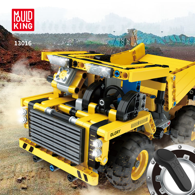 389-537PCS DIY Dumper Truck Building Blocks Car Technic Mechanical Power Bulldozer Construction Toys For Boys Children