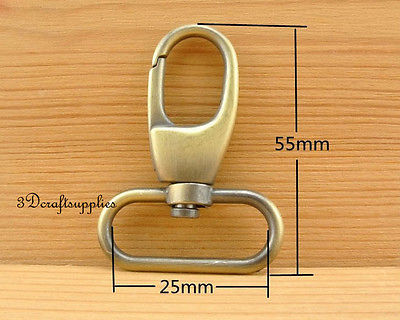 Lobster Clasps Clips Claw purse hooks Swivel snap hook 25 mm 6pcs AC110