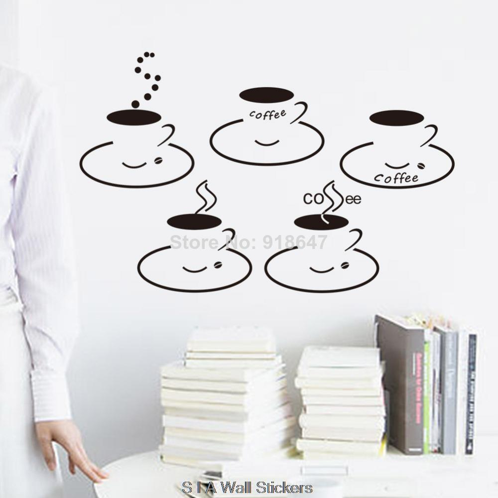 aliexpress com buy sia new design wall stickers coffee cups aliexpress com buy sia new design wall stickers coffee cups kitchen dining room wall decal sticker vinyl art decal for coffee room decoration from